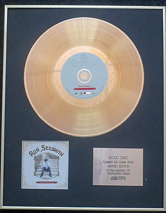 Ron Sexsmith - Exclusive Limited Edition 24 Carat Gold Disc - Cobblestone Runway