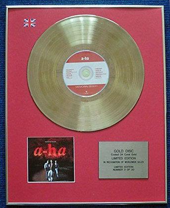 A-ha - Limited Edition CD 24 Carat Gold Coated LP Disc - Memorial Beach