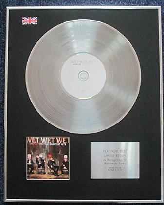 Wet Wet Wet - Limited Edition CD Platinum LP Disc - Greatest Hits