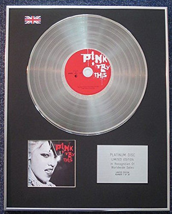 Pink - Limited Edition CD Platinum LP Disc - Try This
