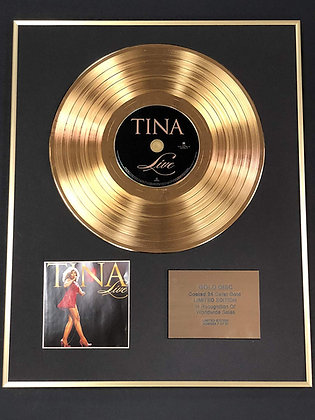 Tina Turner - Exclusive Limited Edition 24 Carat Gold Disc - Live