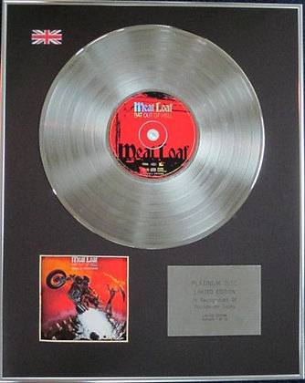 MEAT LOAF - Limited Edition CD Platinum Disc - BAT OUT OF HELL