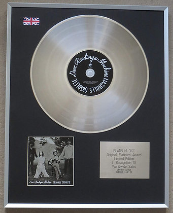 DAVE RAWLINGS MACHINE – Limited Edition CD Platinum Disc – NASHVILLE OBSOLUTE