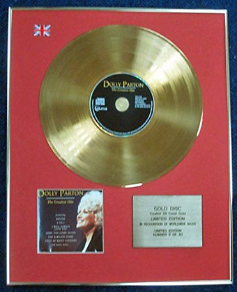 Dolly Parton - Limited Edition CD 24 Carat Gold Coated LP Disc - Greatest Hits