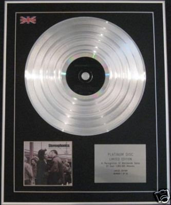 STEREOPHONICS -CD Platinum Disc-PERFORMACE & COCTAILS