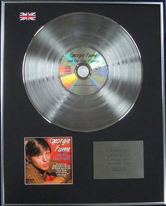 GEORGIE FAME AND THE BLUE FLAMES - Limited Edition CD Platinum Disc