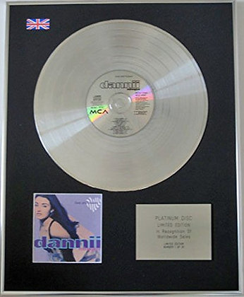 DANNII MINOGUE - Limited Edition CD Platinum Disc - LOVE...
