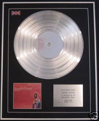 BEVERLY KNIGHT - Ltd Edtn CD Platinum Disc- AFFIRMATION