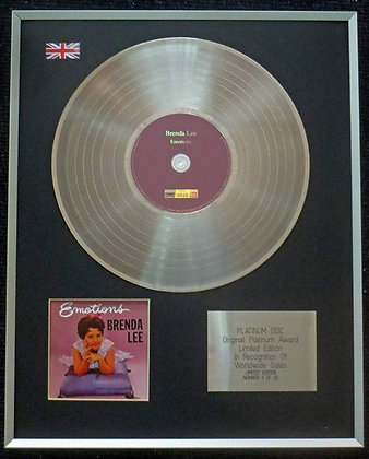 Brenda Lee - Limited Edition CD Platinum LP Disc - Emotions
