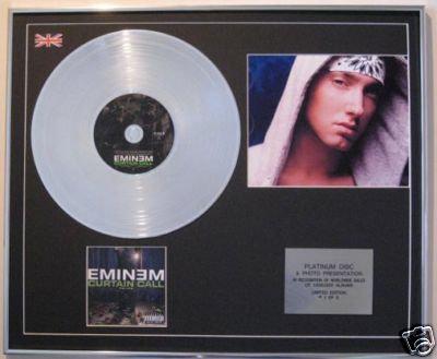 EMINEM  - CD Platinum Disc+Photo - CURTAIN CALL