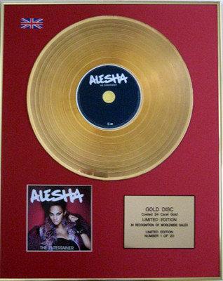 ALESHA DIXON - Limited Edition 24 Carat CD Gold Disc - ALESHA  THE ENTERTAINER