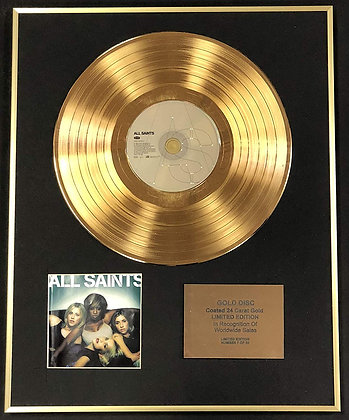 All Saints - Exclusive Limited Edition 24 Carat Gold Disc - London