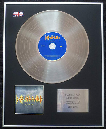 Def Leppard - Limited Edition CD Platinum LP Disc - Best of