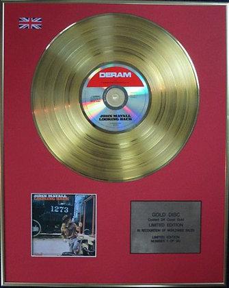 JOHN MAYALL - Ltd Edition CD 24 Carat Coated Gold Disc - LOOKING BACK