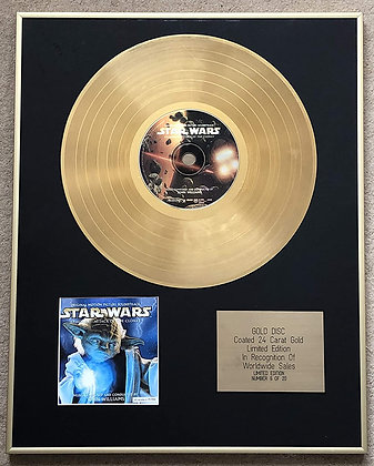 STAR WARS EPISODE 11 - Limited Edition CD 24 Carat Gold Coated LP Disc - ATTACK