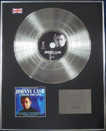 JOHNNY CASH - Limited Edition CD Platinum Disc - I WALK THE LINE