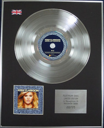 KELLY CLARKSON - CD Platinum Disc - GREATEST HITS. CHAPTER ONE