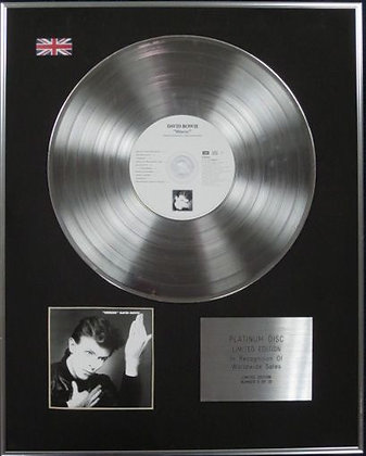 DAVID BOWIE - Limited Edition CD Platinum Disc - HEROES