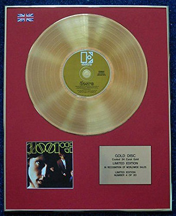 The Doors - Limited Edition CD 24 Carat Gold Coated LP Disc -'The Doors'