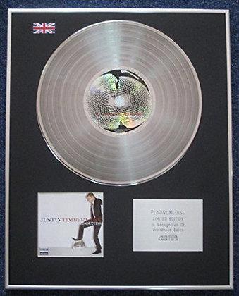 Justin Timberlake - Limited Edition CD Platinum LP Disc - FutureSex/LoveSounds