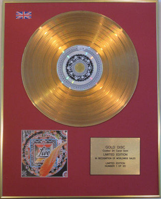 LIVE - Limited Edition 24 Carat CD Gold Disc - THE DISTANCE TO HERE