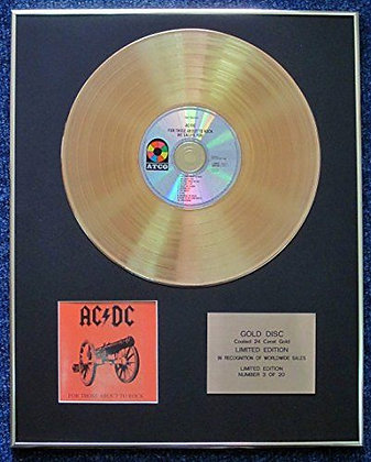 AC/DC - LTD Edition CD 24 Carat Gold Coated LP Disc - For Those About to Rock