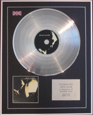 BRIAN WILSON -CD Platinum Disc -I JUST WASN'T MADE FOR-