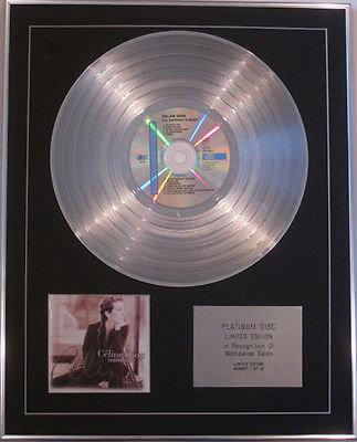 CELINE DION - Limited CD Platinum Disc - S'IL SUFFISAIT D'AIMER