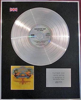 WISHBONE ASH - CD Platinum Disc - LIVE DATES