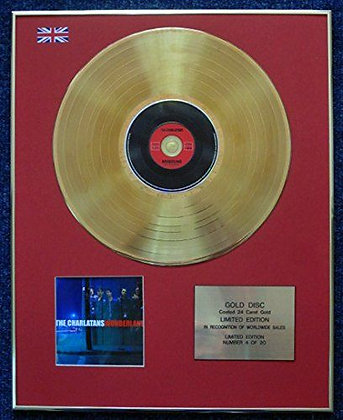 The Charlatans - Limited Edition CD 24 Carat Gold Coated LP Disc - Wonderland