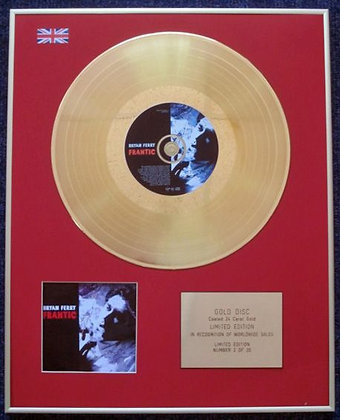 BRYAN FERRY - Limited Edition CD 24 Carat Gold Coated LP Disc - FRANTIC