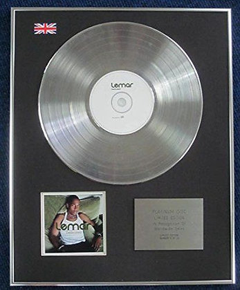 Lemar - Limited Edition CD Platinum LP Disc - Dedicated