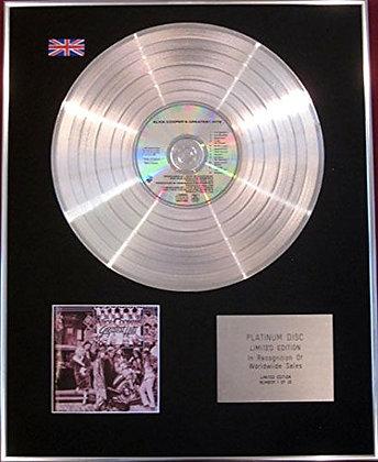 ALICE COOPER - CD Platinum Disc - ALICE COOPER'S GREATEST HITS