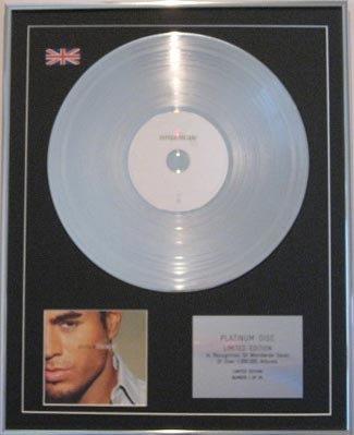 ENRIQUE INGLESIAS  - CD Platinum Disc- ESCAPE