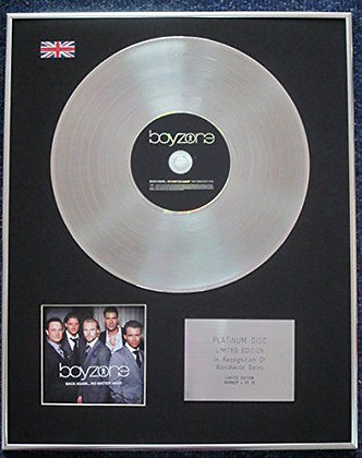 Boyzone - Limited Edition CD Platinum LP Disc - Back Again... No Matter What