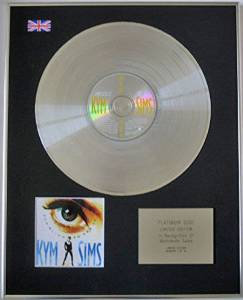 KYM SIMS - Limited Edition CD Platinum Disc - TO BLIND TO SEE IT