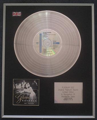 Gloria Estefan - Limited Edition CD Platinum LP Disc - Mi Tierra