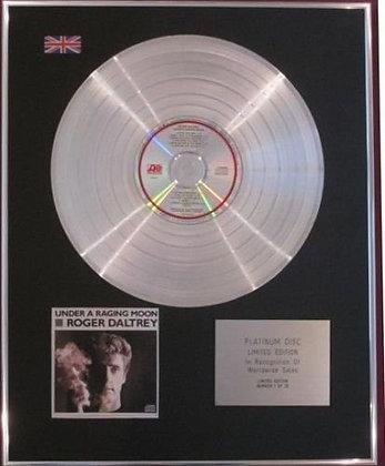 ROGER DALTREY - CD Platinum Disc - UNDER A RAGING MOON