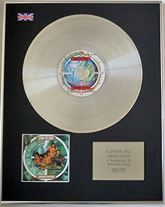 BOMB THE BASS - Limited Edition CD Platinum Disc - UNKNOWN TERRITORY