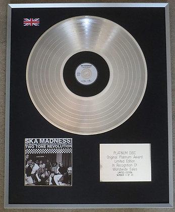 SKA MADNESS - Limited Edition CD Platinum LP Disc - TWO TONE REVOLUTION