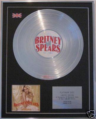 BRITNEY SPEARS  CD Platinum Disc - CIRCUS