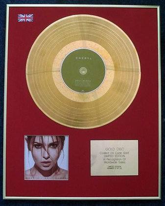 CHERYL COLE - Limited Edition CD 24 Carat Gold Coated LP Disc - ONLY HUMAN