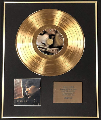 Usher - Exclusive Limited Edition 24 Carat Gold Disc - Confessions