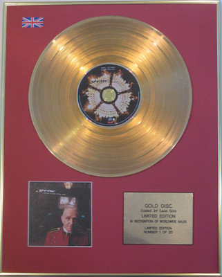 GENE - Limited Edition 24 Carat CD Gold Disc - DRAWN TO THE DEEP END