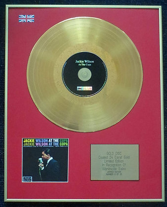 Jackie Wilson - Limited Edition CD 24 Carat Gold Coated LP Disc - At The Copa