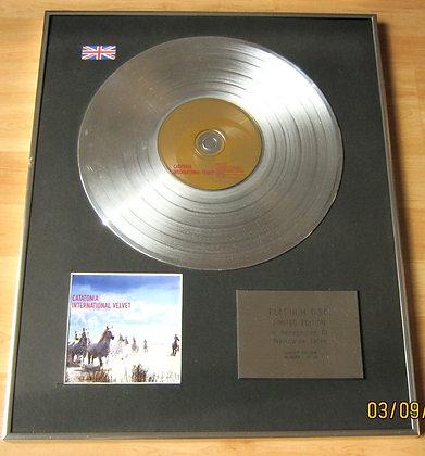CATATONIA - CD Platinum Disc - INTERNATIONAL VELVET