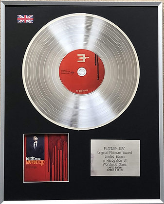 EMINEM - Limited Edition CD Platinum LP Disc - MUSIC TO BE MURDERED BY