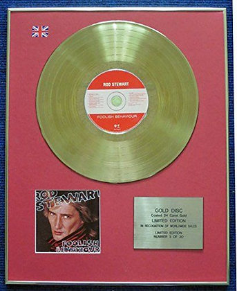 Rod Stewart - Limited Edition CD 24 Carat Gold Coated LP Disc - Foolish?