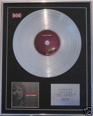 JAMES BLUNT  - CD Platinum Disc - BACK TO BEDLAM