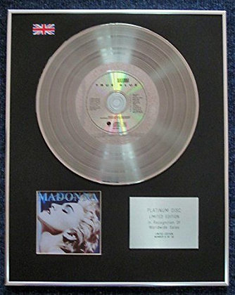 Madonna - Limited Edition CD Platinum LP Disc - True Blue